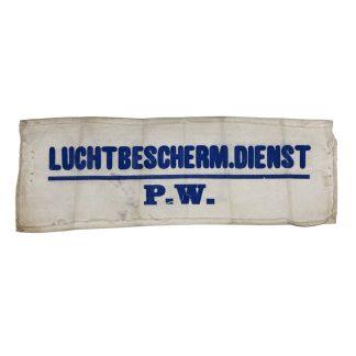 Original WWII Dutch 'Luchtbeschermingsdienst' P.W. armband Amsterdam