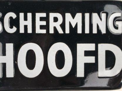 Original WWII Dutch 'Luchtbescherming' Blokhoofd enameled sign