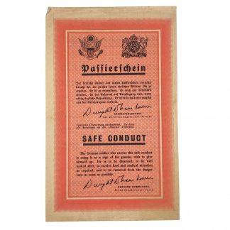 Original WWII US Safe conduct pass