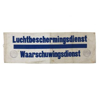 Original WWII Dutch 'Luchtbeschermingsdienst' Warning department armband Leerbroek