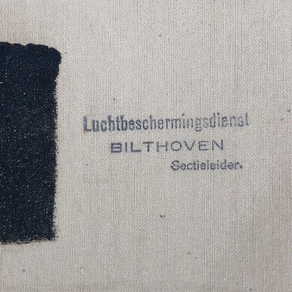 Original WWII Dutch 'Luchtbeschermingsdienst' section leader armband Bilthoven