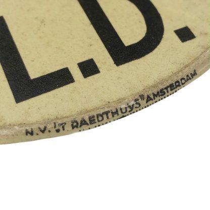 Original WWII Dutch 'Luchtbeschermingsdienst' luminous LD plate