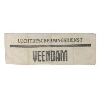 Original WWII Dutch 'Luchtbeschermingsdienst' armband Veendam
