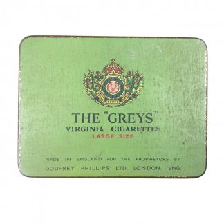Original WWII British 'The Greys' cigarettes tin