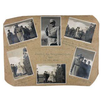 Original WWII German photo grouping Hermann Göring visiting Catania (Italy)