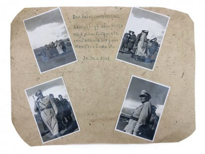 Original WWII German photo grouping Hermann Göring visiting Catania (Italy)