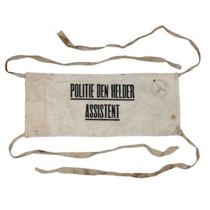 Original WWII Dutch Police assistance armband Den Helder