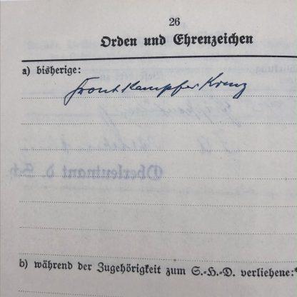 Original WWII German Luftschutz Dienstbuch Mannheim