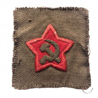 Original WWII Russian 'Commissar' star cutout