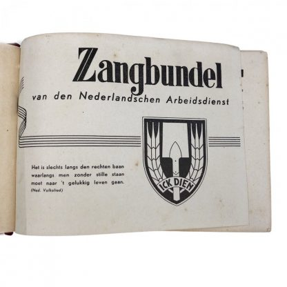 Original WWII Dutch N.A.D. song book