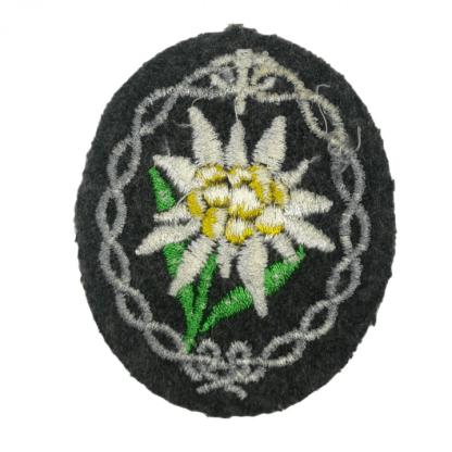 Original WWII German WH Gebirgsjäger arm patch