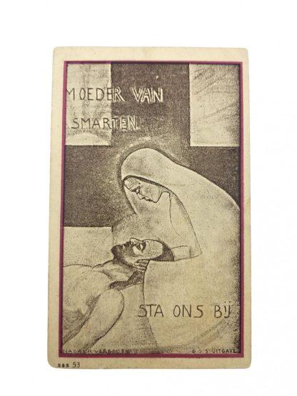 Original WWII Dutch 'Luchtbeschermingsdienst' & Resistance death notice Leende 1943