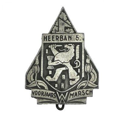 Original WWII Dutch NSB Heerban 5 'Voorjaars Marsch' pin