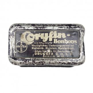 Original WWII German Coryfin-Bonbons tin