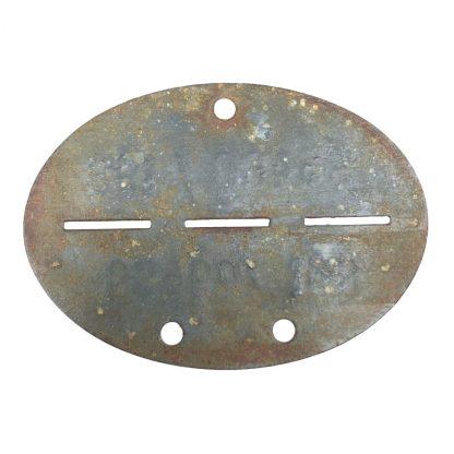 Original WWII German erkennungsmarke 1./Fallschirmjäger ausbildungs abteilung Hildesheim, Sibesse