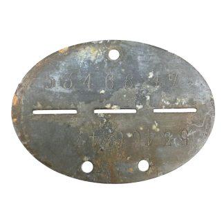 Original WWII German erkennungsmarke 1./Stab.Fallschirmjäger ausbildungs abteilung Hildesheim, Sibesse