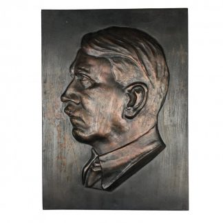 Original WWII German Adolf Hitler plaque N.S.B.O.