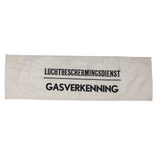 Original WWII Dutch 'Luchtbeschermingsdienst' Gas reconnaissance armband