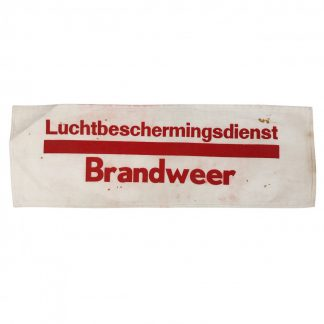Original WWII Dutch 'Luchtbeschermingsdienst' armband fire department Zaandam