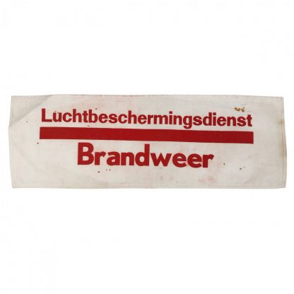 Original WWII Dutch 'Luchtbeschermingsdienst' armband fire department Zaandam