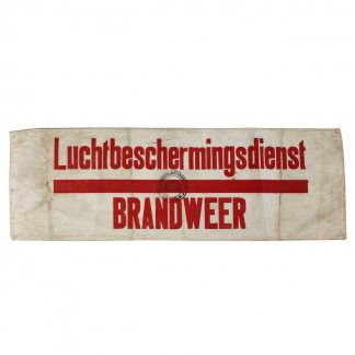 Original WWII Dutch 'Luchtbeschermingsdienst' armband fire department Leiden