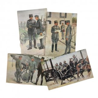 Original Pré 1940 Dutch army field post cards