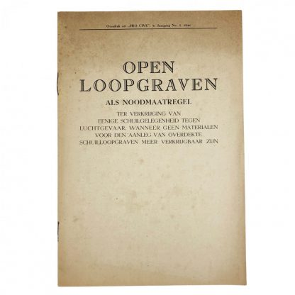 Original WWII Dutch booklet trenches 'Open Loopgraven'