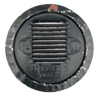 Original WWII Dutch 'Luchtbeschermingsdienst' blackout lamp cover