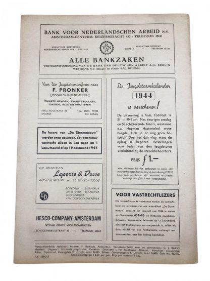 Original WWII Dutch Jeugdstorm 'De Stormmeeuw' magazine 1943