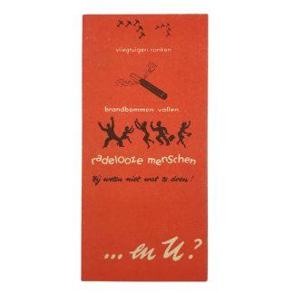 Original WWII Dutch 'Luchtbeschermingsdienst' informative flyer