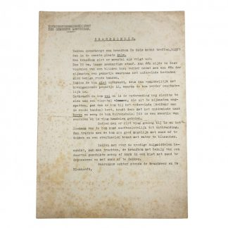 Original WWII Dutch 'Luchtbeschermingsdienst' document incendiary bombs Amsterdam