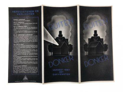 Original WWII Dutch 'Luchtbescherming' informative blackout flyer