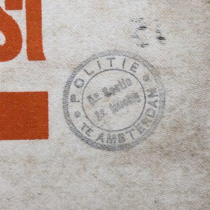 Original WWII Dutch 'Luchtbeschermingsdienst' ordonnance armband Amsterdam
