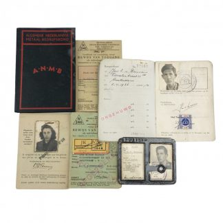 Original WWII Dutch Fokker aircraft ID card with documents Amsterdam