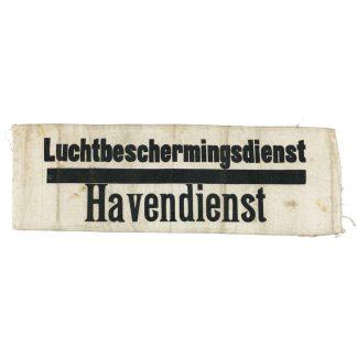 Original WWII Dutch 'Luchtbeschermingsdienst' armband Harbor department