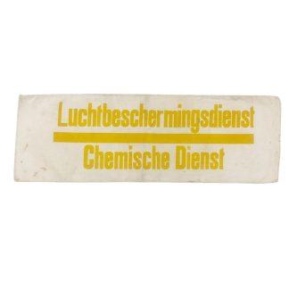 Original WWII Dutch 'Luchtbeschermingsdienst' Chemical service armband