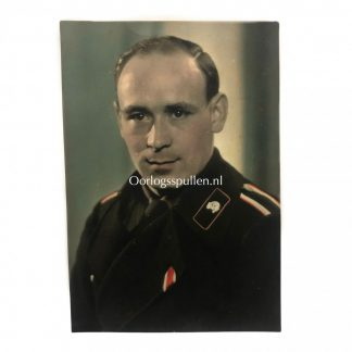 Original WWII German WH Panzer portrait photo in colour