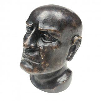 Original WWII Italian Benito Mussolini bronze buste