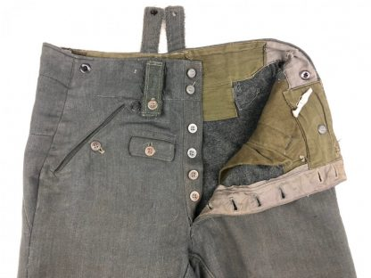 Original WWII German WH/SS M43 'Keilhose' in gabardine cloth
