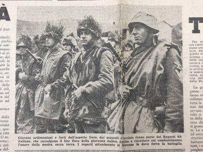 Original WWII Italian fascist newspaper Libro e Moscetto