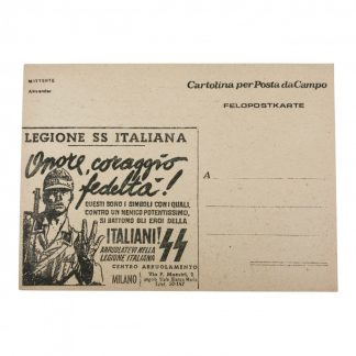 Original WWII Italian 29. Waffen-Grenadier-Division der SS postcard