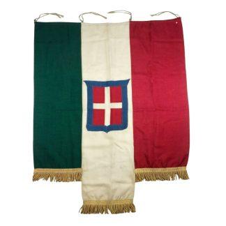 Original WWII Italian balcony flag