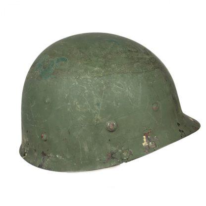 Original WWII US M1 helmet – front seam swivel bale
