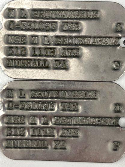 Original WWII US dog tags