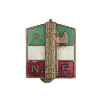 Original WWII Italian P.N.F. member buttonhole pin