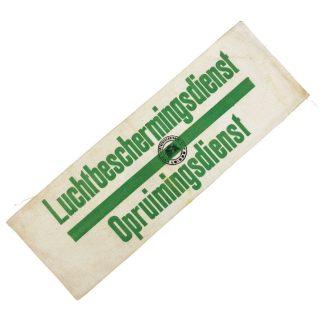 Original WWII Dutch 'Luchtbeschermingsdienst' Clearance service armband Leiden