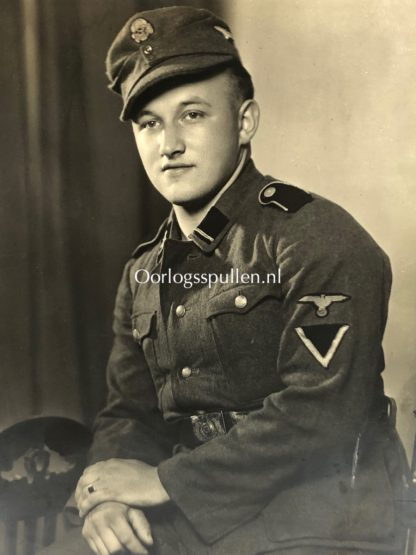 Original WWII German Waffen-SS large portrait photo