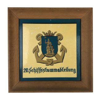 Original WWII German Kriegsmarine 20.Schiffsstammabteilung tile