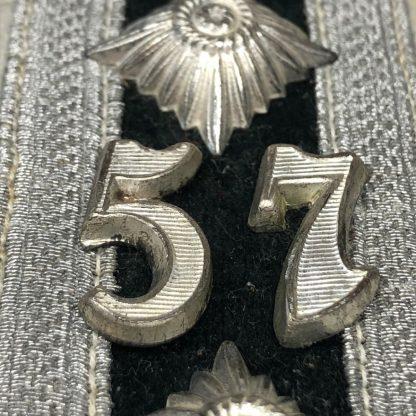 Original WWII German WH infanterie hauptfeldwebel shoulder boards – Infanterie Regiment 57