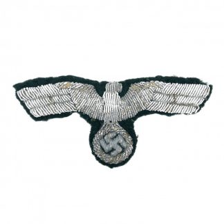 Original WWII German WH visor cap eagle in bullion